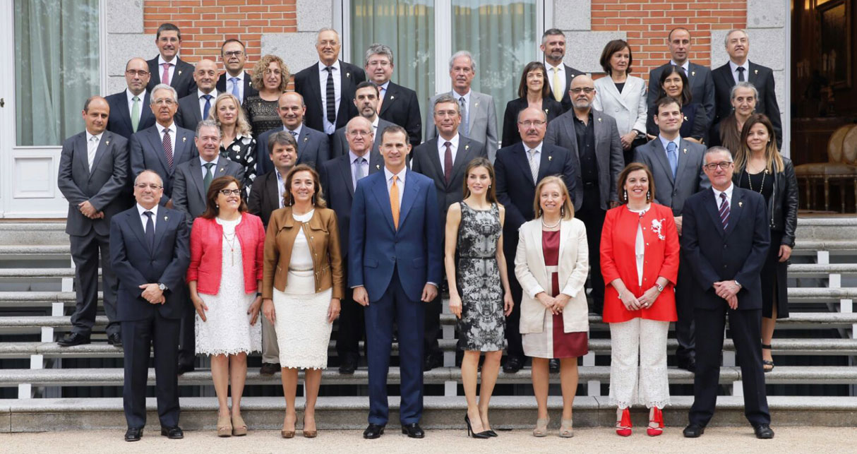 """SS.MM King And Queen Of Spain Received Scientific Directors Of The """"María De Maeztu"""" Excellence Research Units And """"Severo Ochoa"""" Centers"""
